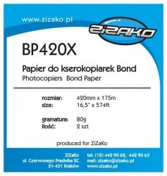 Papier w roli do ksero Yvesso Bond 420x175m 80g BP420X