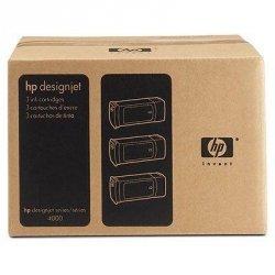 Tusz (Ink) HP 90 cyan (400ml) do DnJ 4000/4000PS/4020/4500/4500PS/4520 - Trzypak [C5061A]