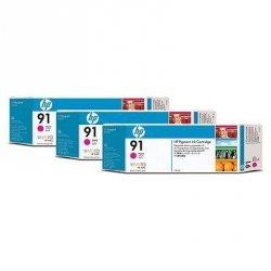 Tusz (Ink) HP 91 magenta (775ml) do DnJ Z6100 - Trzypak [C9468A] C9484A