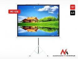 Maclean Ekran projekcyjny MC-536 na stojaku 72 4:3 145x110