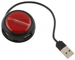 Esperanza HUB 4 PORTY USB 2.0 YOYO CZERWONY EA135R