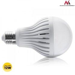 Maclean Żarówka LED E27 12W 230V Energy MCE176 WW ciepły biały mikrofalowy czujnik ruchu i zmierzchu