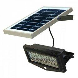 SUNEN PowerNeed Kinkiet solarny z czujnikiem ruchu SMD LED x44, panel 5W srebrny