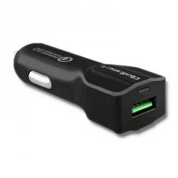 Qoltec Ładowarka samochodowa 12-24V 18W 5V 3A USB Quick Charge 3.0
