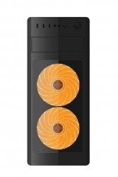 Gembird Obudowa Midi Tower Fornax 1000 O pomarańczowa