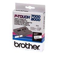 Taśma Brother 9mm/8m  biała z czarnym nadrukiem