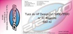 Tusz zamiennik Yvesso nr 81 do HP Designjet 5000/5500 680 ml Magenta C4932A