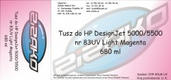 Tusz zamiennik Yvesso nr 83 UV do HP Designjet 5000/5500 680 ml Light Magenta C4945A