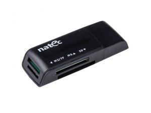 NATEC Czytnik kart pamięci ANT 3 Mini (SDHC/MMC/M2/Micro SD) Black