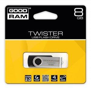 GOODRAM TWISTER 8GB Black USB2.0