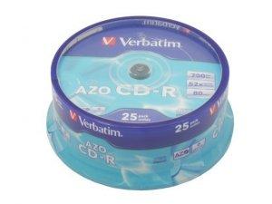 Verbatim CD-R 52x 700MB 25P CB Azo 43352