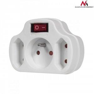 Maclean Gniazdko prądowe potrójne z wyłącznikiem Energy MCE142