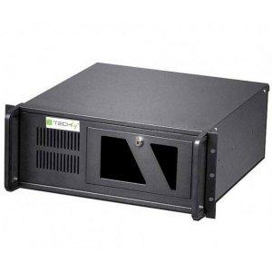 Techly Obudowa PC ATX Rack 19 cali 4U, czarna
