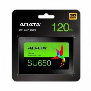 Adata Dysk SSD Ultimate SU650 120G 2.5 S3 3D TLC Retail