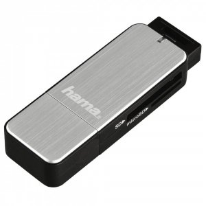 Hama Czytnik kart SD/microSD USB 3.0 srebrny