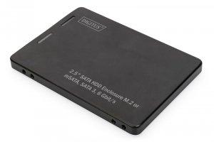 Digitus Adapter na dysk SATA/HDD 2,5 M.2 /mSATA SATA 3,6 Gbit/s, zapis do 520 MB/s Aluminiowa