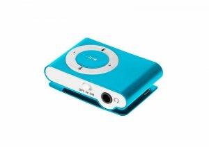 QUER Odtwarzacz MP3 Quer z czytnikiem kart niebieski