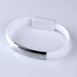 Global Technology KABEL USB iPhone 6/6s/5/5s BRANSOLETKA biała