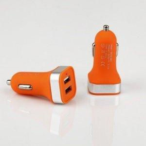 Global Technology ŁADOWARKA SAMOCHOCHODOWA MINI 2xUSB 3.1A pomarańczowa GT PRO