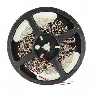Whitenergy Taśma LED|5m|60szt./m|SMD3528|4.8W/m|12V|wew.|8mm|ciepła biała|bez konektora