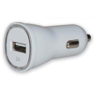 Techly Ładowarka samochodowa USB 5V 1A biała