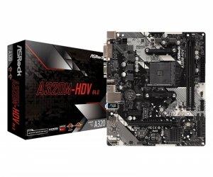 ASRock Płyta główna A320M-HDV R4.0 AM4 2DDR4 DSUB/DVI/HDMI/m.2 mATX