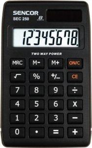 Sencor Kalkulator kieszonkowy SEC 250, 8 cyfr LCD, Podwójne zasilanie