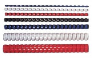 Fellowes Grzbiet plastikowy okrągły 8mm biały, 100 sztuk