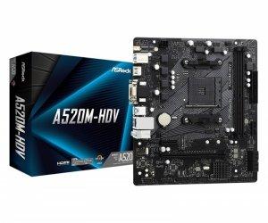 ASRock Płyta główna A520M-HDV AM4 2DDR4 HDMI/DVI/VGA M.2 mATX