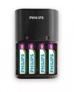 Philips Ładowarka 1/4 x AA/AAA 170/80 mA, 220/240V, 4 x AA 2100 mAh