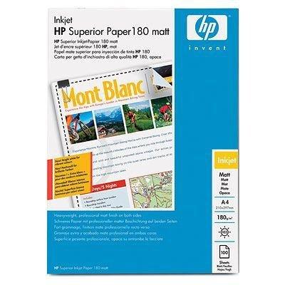 Papier w ark. HP Superior Inkjet 180 matowy 180 g/m2-A4/210 mm x 297 mm/100ark.