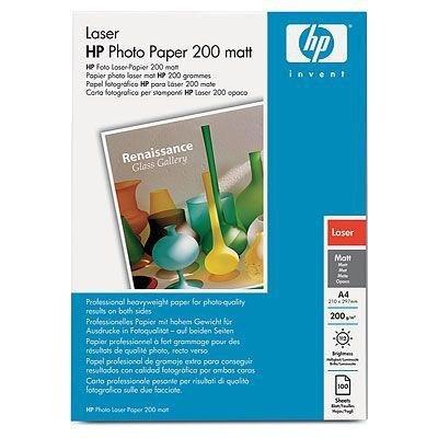 Papier A4, 200g, 100ark. - HP Laser Photo Paper, śnieżnobiały, matowy, dwustronny Q6550A