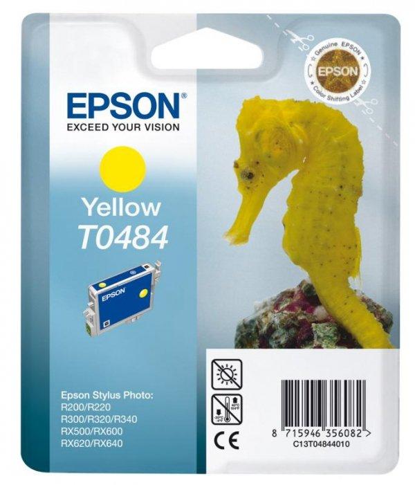 Wkład yellow do Epson Stylus Photo R300/R340/RX500/RX640/R220 T0484