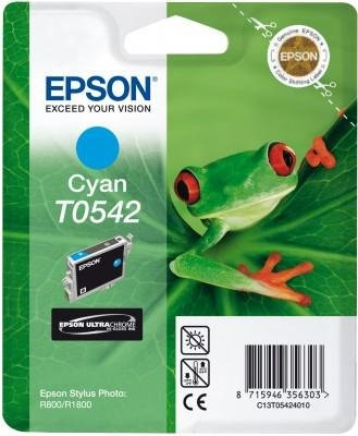 Tusz do Epson Stylus Photo R800/R1800 Cyan Ink Cartridge 400 str. T0542