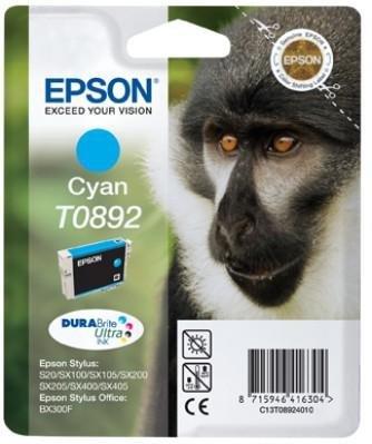 Tusz (Ink) T0892 cyan do Epson Stylus S20/SX100/SX105/SX200/SX205/SX400/SX405/BX300F