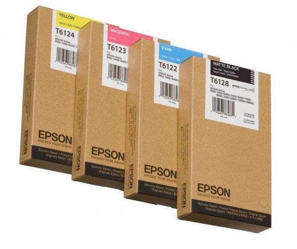 Atrament Cyan 220 ml do Epson Stylus Pro 7400/7450/9400/9450 C13T612200