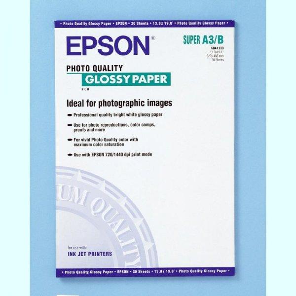 Papier Epson A3+ Photo Quality Glossy (20 ark.) 141 g/m2 S041133