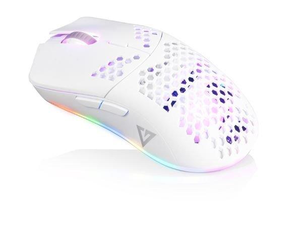MODECOM Mysz optyczna przewodowa biała VOLCANO SHINOBI 3327