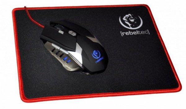 Rebeltec Podkładka pod mysz dla gracza z obszyciem Slider S+ rozmiar 250 x 200 x 3mm