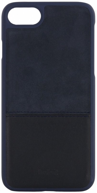 Holdit Selected etui Kasa skóra/zamsz magnetic granatowe iPhone 7 8
