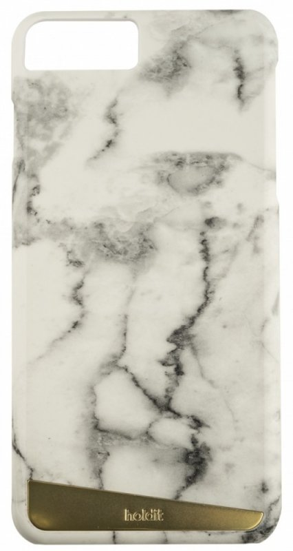 Holdit Selected etui Langasand magnetic marble biały iPhone 7 8 Plus