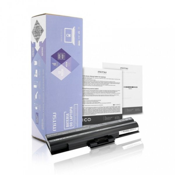 Mitsu Bateria do Sony BPS13 (czarna) 4400 mAh (49 Wh) 10.8 - 11.1 Volt
