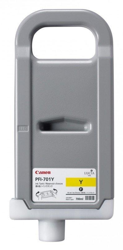 Tusz Canon PFI-701Y Yellow 700ml do iPF8000S iPF8100 iPF9000S iPF9100 CF0903B001AA