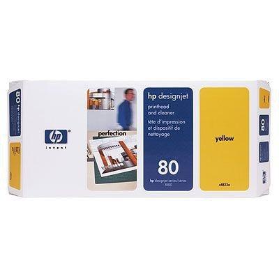Głowica (Printhead) HP 80 yellow + Gniazdo czyszczące (Printhead cleaner) yellow do DnJ 1050C/1055CM - C4823A