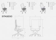 SITAGEGO fotel obrotowy fotel biurowy krzesło obrotowe krzesło biurowe Sitag Biurokoncept