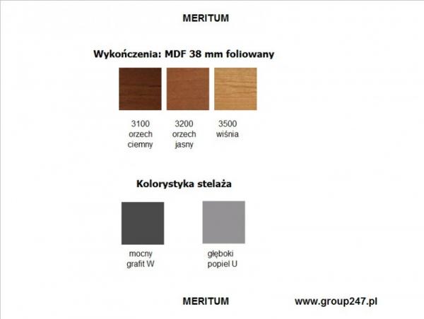 Meble gabinetowe Meritum - MDF foliowany