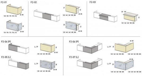 LADA RECEPCYJNA FURONTO HPL TUARI  2F2-08 + F2-09 + F2-10 + F2-23