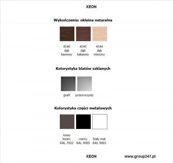 kolorystyka biurek Xeon