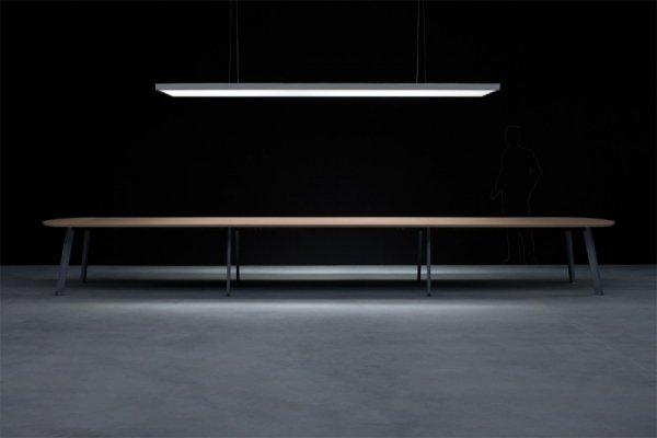 balma , stół balma, stół konferencyjny simplik,stół simplicTrzymodułowy Stół Konferencyjny z blatem w melaminie, biurokoncept