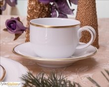Villa Italia Hatty Gold - Filiżanka do herbaty ze spodkiem ORYGINALNY